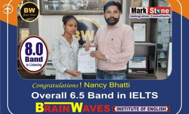 It's another achievement for BRAINWAVES INSTITUTE.Our student Nancy Bhatti got 7.5 BAND in LISTENING and OVERALL 6.5 BAND in IELTS....Congratulations...