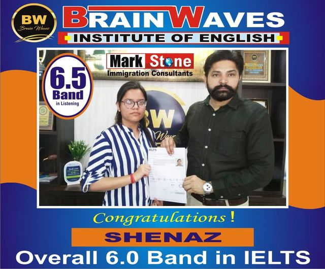 It's another achievement for BRAINWAVES INSTITUTE.Our student Sehnaz got 6.5 BAND in Listening and OVERALL 6.0 BAND in IELTS